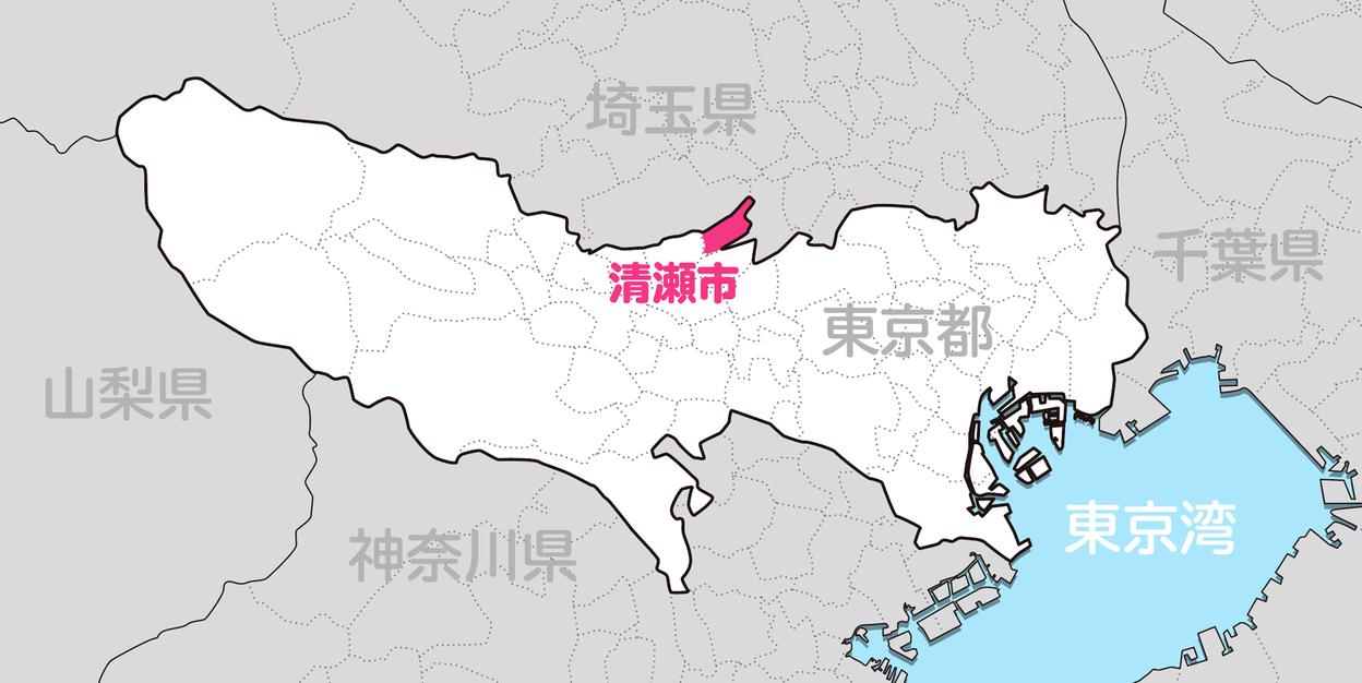 清瀬市の位置