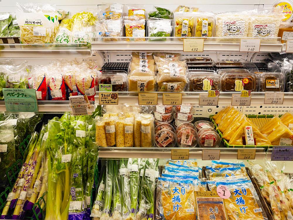 「AOYA」で販売される加工食品