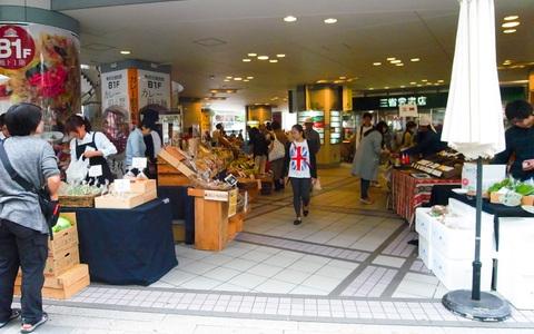 「日本をまん中から元気にしよう!」都心に集まった野菜とお客さんが賑わう「交通会館マルシェ」(東京都・有楽町)